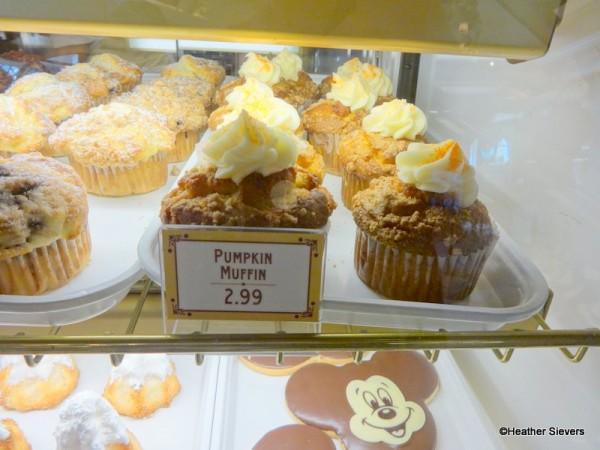 Pumpkin Muffins in the Bakery Case