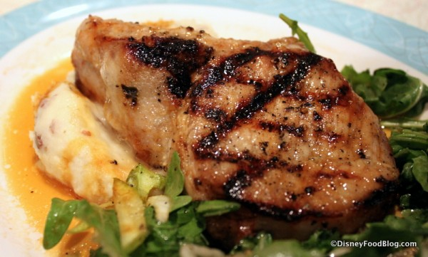 Dad's Grilled Pork Chop -- Up Close