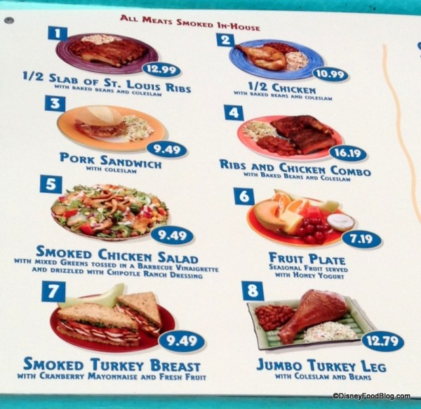 Flame Tree Menu