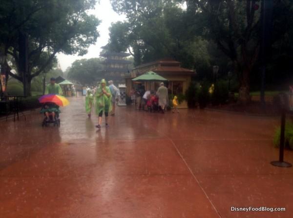 Rainy day at Epcot