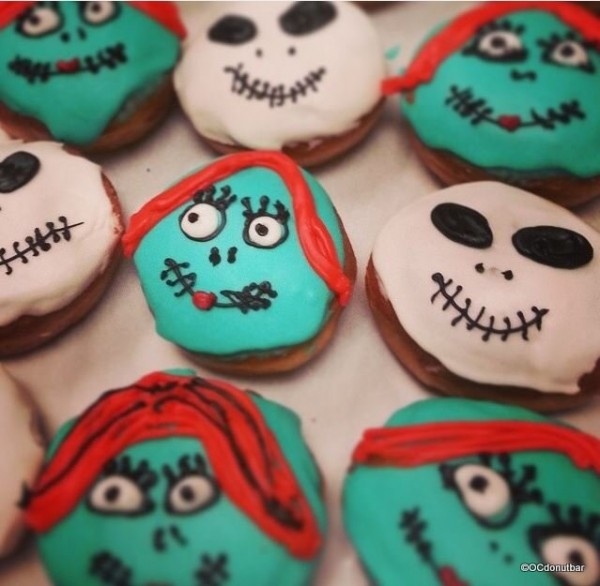 Jack and Sally Nightmare Before Christmas Donuts
