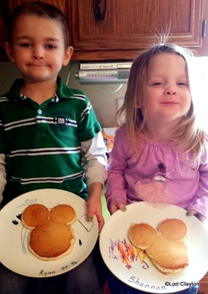 Mickey Mouse Pancakes at Home