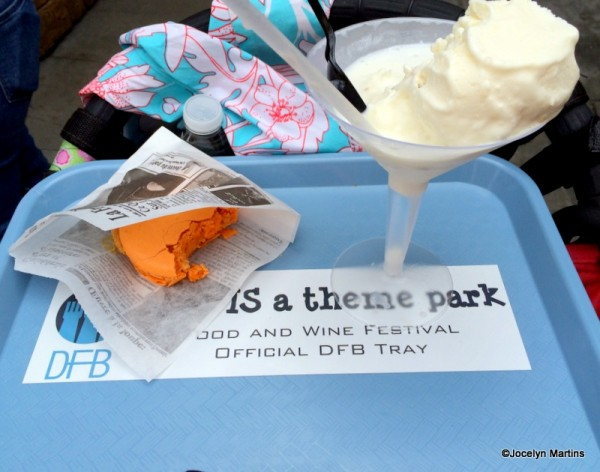 Pumpkin Ice Cream Macaron Sandwich and Coconut-White Chocolate Ice Cream Martini with Whipped Cream Vodka