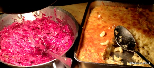 Red Cabbage and Nudel Gratin