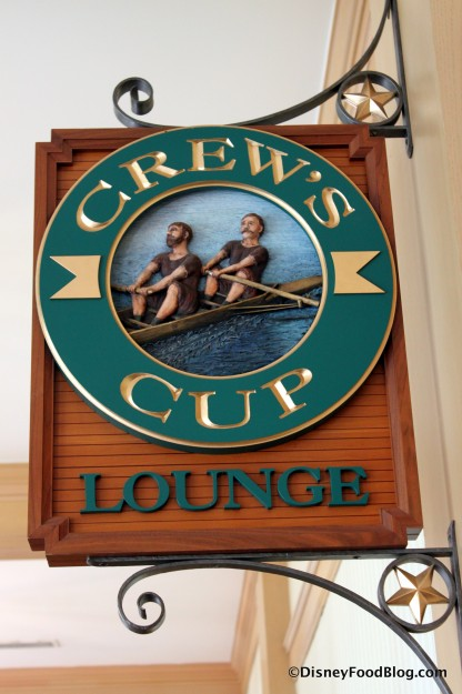 Crew's Cup Lounge Sign