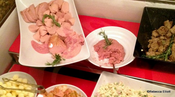 Some Traditional German Cold Salads Including Sausage Salad (left) and Herring Salad (right)