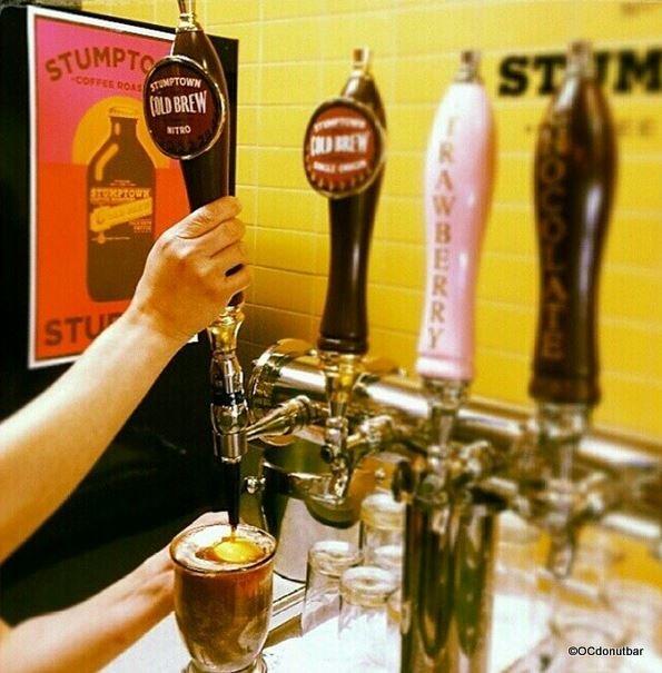 Stumptown Cold Brew Coffee, Chocolate Milk & Strawberry Milk on Tap