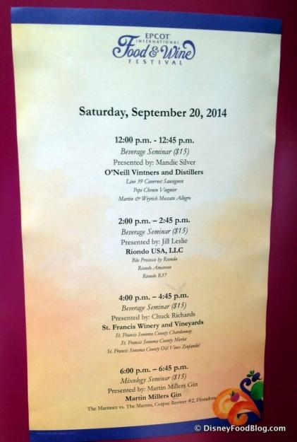 The Vineyard Stage Schedule