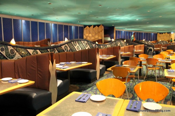 Booths and tables in upper levels