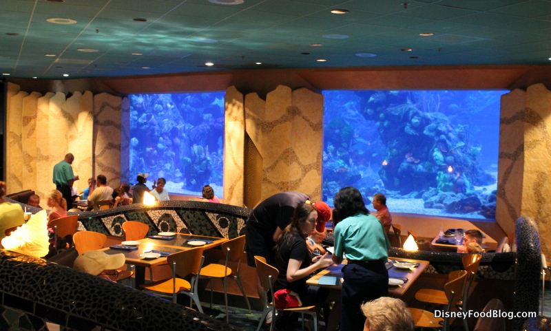 underwater restaurant disney world. Coral Reef Dining Room Underwater Restaurant Disney World