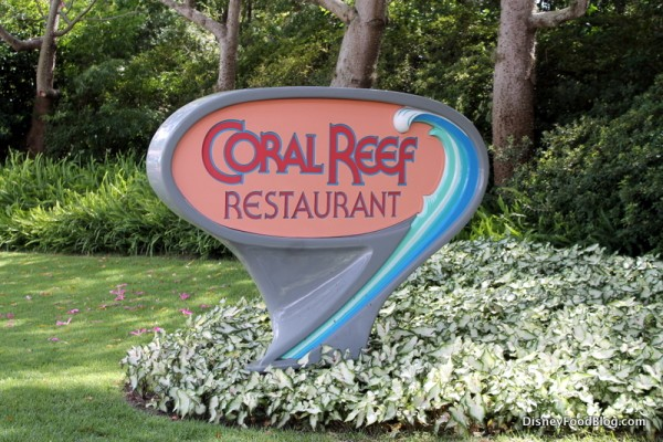 Coral Reef Restaurant in Epcot
