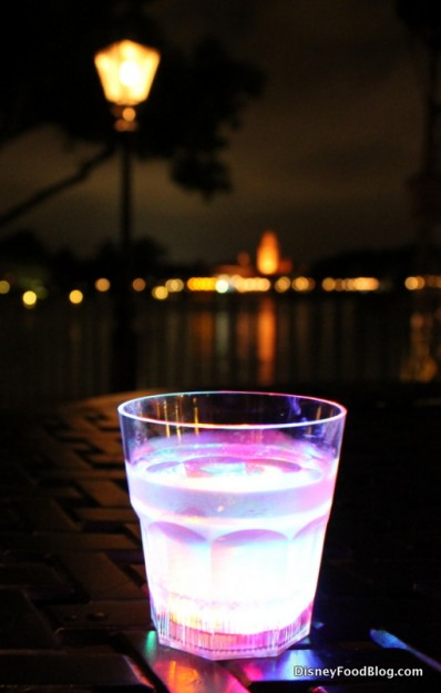 White Cranberry Cosmo in glow cup
