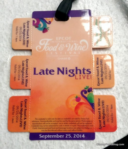 Late Nights Live credential