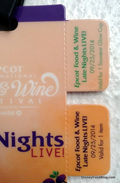 Coupons attached to lanyard