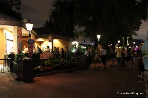 Opening line at Refreshment Port