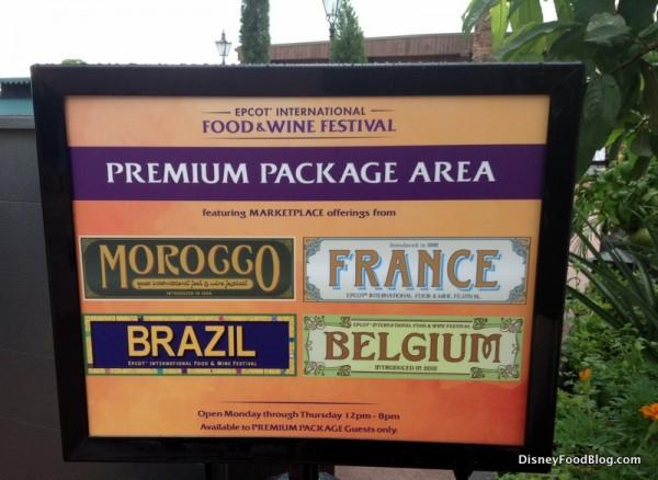 Premium Package area designation