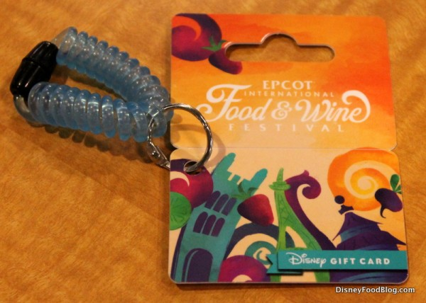 Food and Wine Festival Disney Gift Card Wristlet