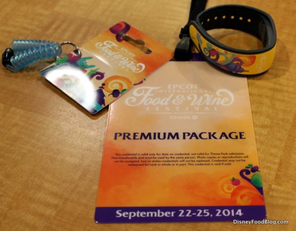 Premium Package credential, gift card, and themed MagicBand