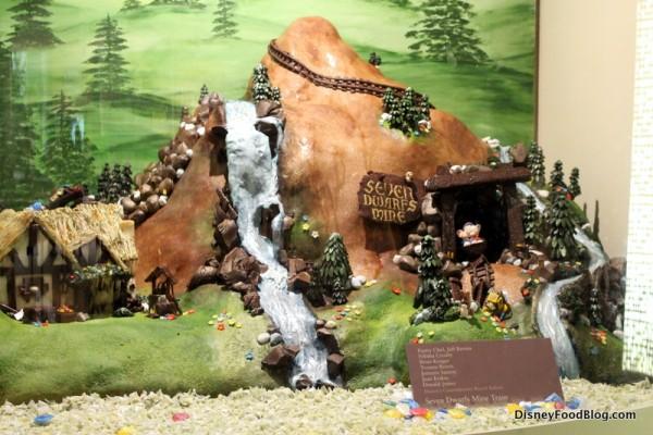 Seven Dwarfs Mine Train chocolate sculpture