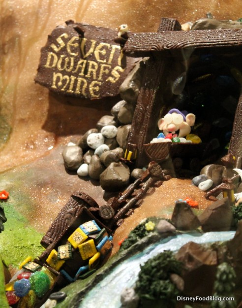 Seven Dwarfs Mine Train chocolate sculpture