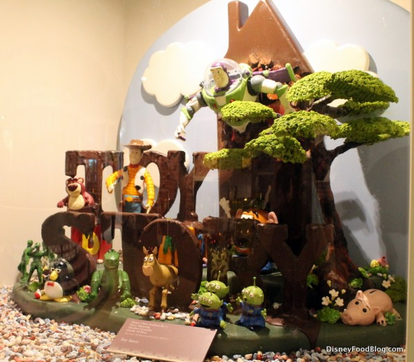 Toy Story chocolate sculpture