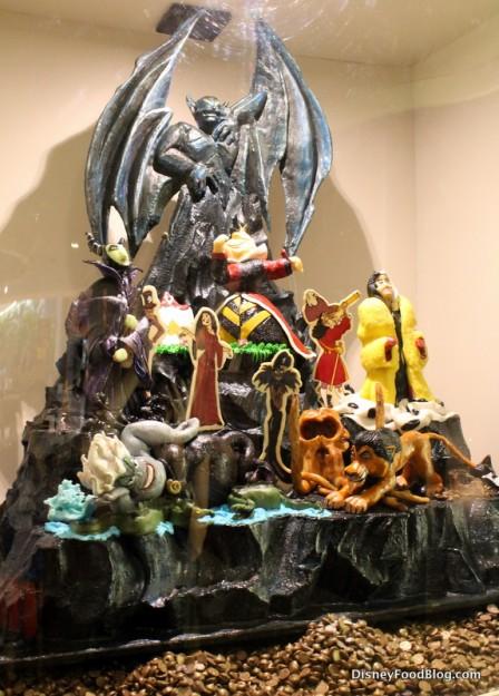Disney Villians chocolate sculpture