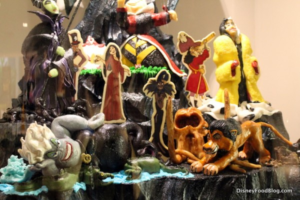 Disney Villians chocolate sculpture