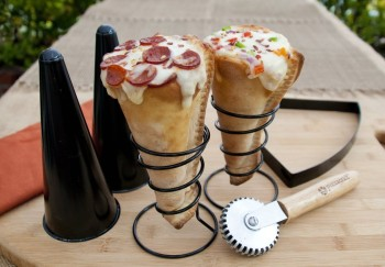Make Your Own Grilled Pizza Cones!