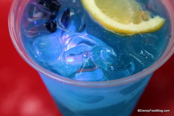 Glow Cube inside Blue Skyy Lemonade