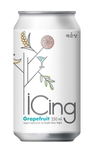 iCing Grapefruit Sparkling Rice Brew, Available at the South Korea Marketplace