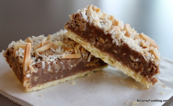 Toffee Shortbread Bar cross-section