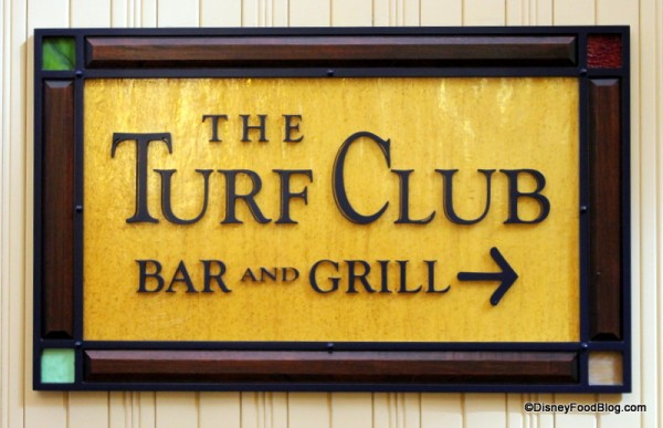 Sign leading you to the Turf Club