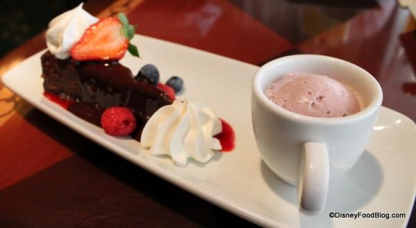 Chocolate Espresso Torte with Vanilla Port ice cream
