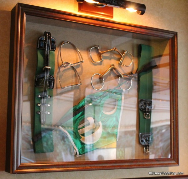 Framed horse racing gear