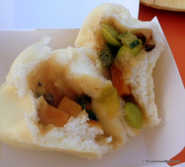 Vegetarian Bao -- Inside