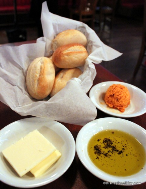 Bread with Butters and Olive Oil