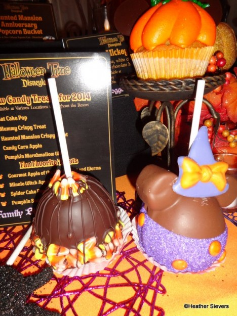 Candy Corn & Minnie Witch Caramel Apples