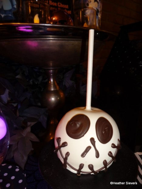 Jack Skellington Caramel Apple