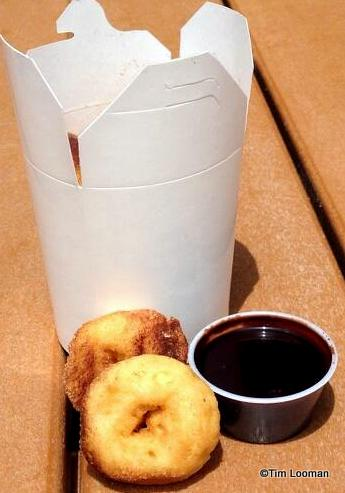 Mini-Donuts with chocolate dipping sauce