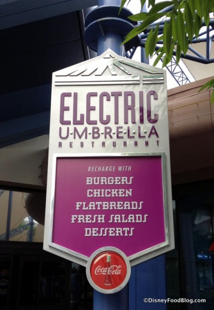 Electric Umbrella outdoor sign