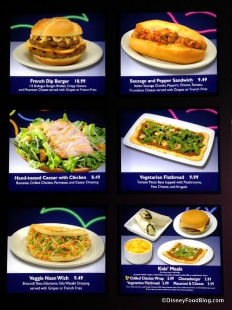 Electric Umbrella menu