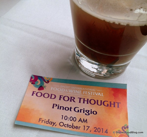 Food For Though at Epcot's Food and Wine Festival