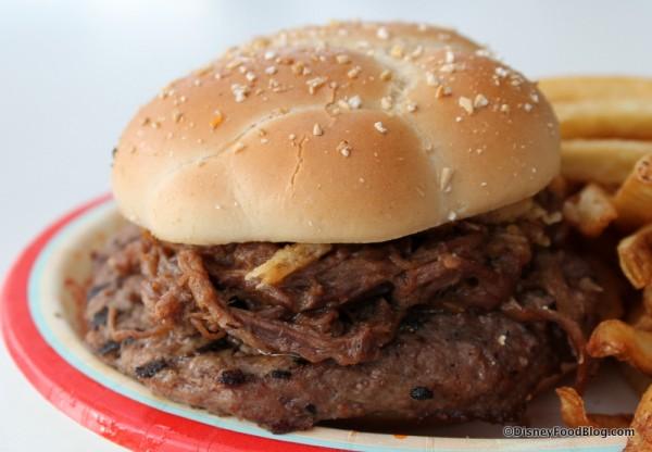 French Dip Burger close up