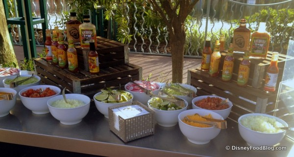 Garnish Table for Tacos