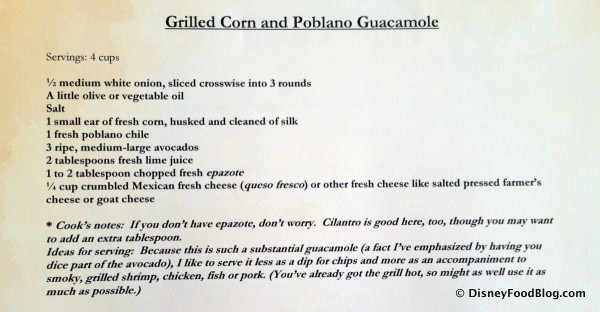 Grilled Corn and Poblano Guacamole -- Ingredients