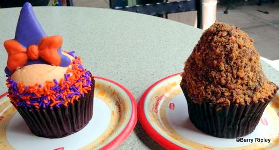 Minnie Witch and Butterfinger Cupcakes