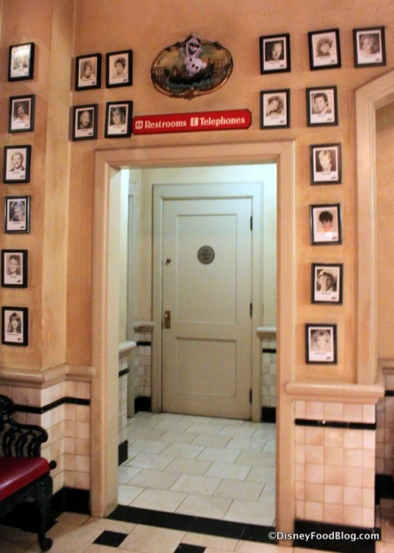 Celebrity Pictures Outside the Restrooms