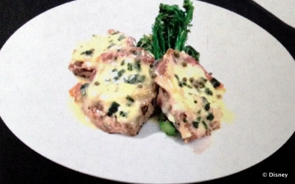 Pork Saltimbocca will replace the current pork dish on the menu