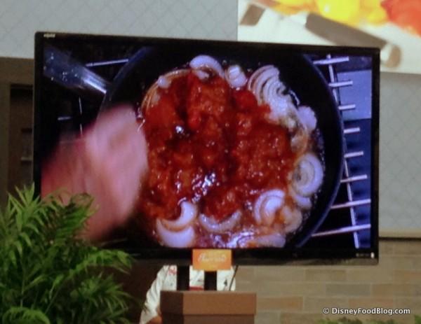Preparing Chicken Tinga