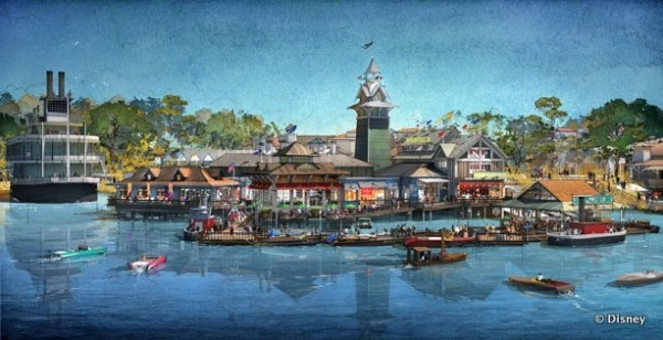 Concept art for The Boathouse -- Outside View